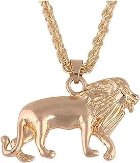 🍀Libobo🍀New Golden Lion Gold Chain Head Bib Necklace Pendant Lion Choker Jewelry