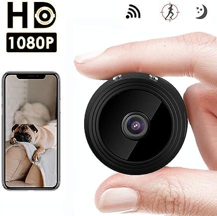 Mini Microcamera Spia Bottone Nascosta WIFI 1080p Telecamera IP Wireless Rilevamento di Movimento Portatile Videocamera di Sorveglianza Video Registrazione in Loop per iPhone Android