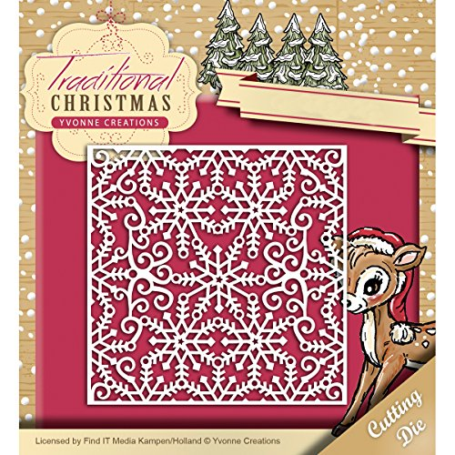 Find It Trading Yvonne Creations Traditional Christmas Die-Snowflake Frame