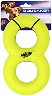 Nerf Dog Max Court Infinity Tug Dog Toy with Interactive Squeaker, Lightweight, Durable and Water Resistant, 8.7 Inches, F...