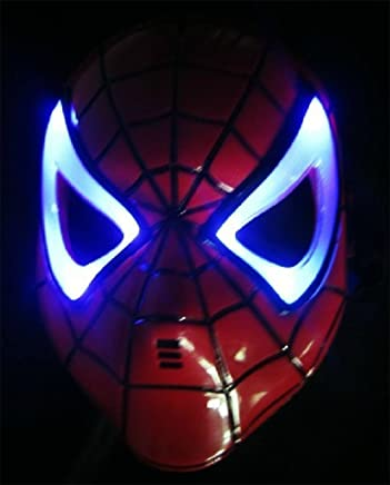 Boddban - Máscara de Spiderman con luces LED para niños ...