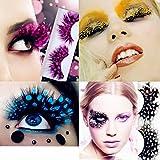 MeiQing Pack of 9 Colorful False Eyelashes Long Feather polka dot Eyelashes Costume Cosplay Stage Makeup Exaggerate False Eyelashe