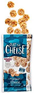 Just the Cheese Minis, Crunchy Baked Cheese, High Protein Snack, Low Carb Gluten Free With 100% Natural Cheese, Grilled Cheese (16 Packs)