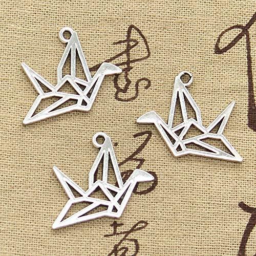 WANM DIY Colgantes del Encanto De Joyería 6 Piezas De Grullas De Papel Origami 23X29Mm Fit para Hacer Joyas Ymanualidades
