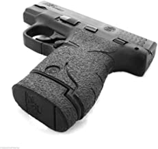 Talon Grip for Smith & Wesson M&P Shield Black Rubber - 705R W/ TWO Ext Mag Grips 737