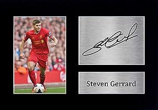 HWC Trading Steven Gerrard Signed A4 Printed Autograph