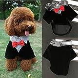 Traje Perro, Legendog Disfraces de Halloween para Mascotas Traje de Smoking de Caballero Ropa de Perro Camisa de Boda de Perro con Arco de Ccuello XL