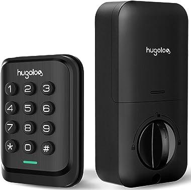 Keyless Entry Door Lock, HUGOLOG Electronic Keypad Deadbolt Lock, Auto-Lock, Easy to Install & Program, Battery Backup for Fr
