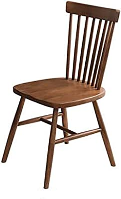 Simple Office Chair Without Armrests, Small Tables and Chairs Without Armrests, Home Office Chairs Without Armrests in The Backrest, Dining Table Chair, Suitable for Small Spaces (Color : Walnut)