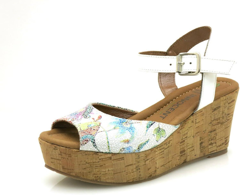 Innocent Sandalette Ledersandale Lederschuhe Schuhe Blaumen 175-AD02