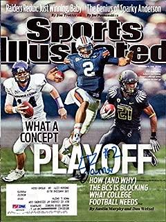 LaMichael James Autographed Sports Illustrated Magazine Cover Oregon Ducks PSA/DNA #Z83329