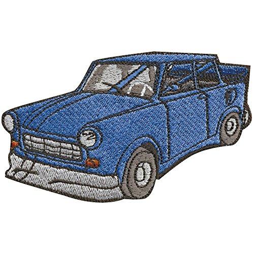 Aufnäher - PKW Auto Oldtimer Trabant dunkelblau - 06130 Gr. ca. 10 x 6cm
