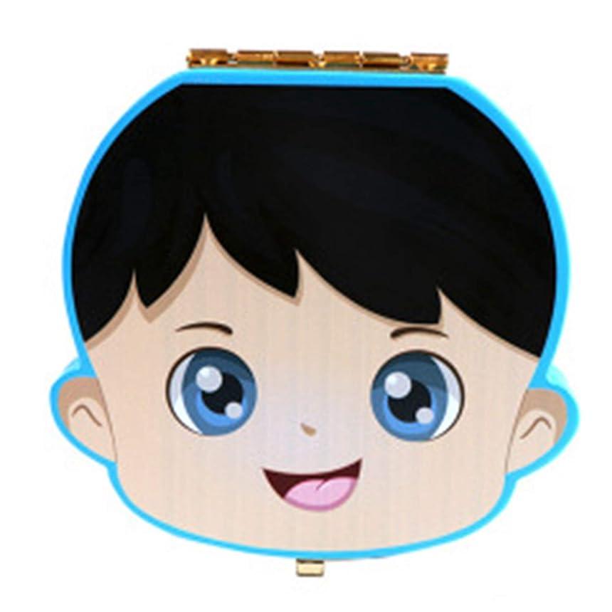 労働者ハウジング途方もないTOOGOO 赤ちゃんの歯ボックス木製乳歯オーガナイザー収納男の子女の子保存記念品の箱キッズ用ギフトクリエイティブベビートゥースオーガナイザー、ブルー