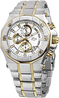 Phantom RX Two-Tone Steel & Gold Luxury Men's Chronograph Watch - Premium Grade Stainless Steel - 50M Water Resistant - Chronograph Movement with Date Calendar - Multi-Layered Dial