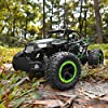 BEZGAR 18 Toy Grade 1:14 Scale Remote Control Car, 2WD High Speed 20 Km/h All Terrains Electric Toy Off Road RC Monster Vehicle Truck Crawler with Two Rechargeable Batteries for Boys Kids and Adults #2