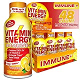 (48 Pack) VitaminEnergy™ Immune Shot, Zero Sugar Energy Shot, Dietary Supplements, Keto Friendly...