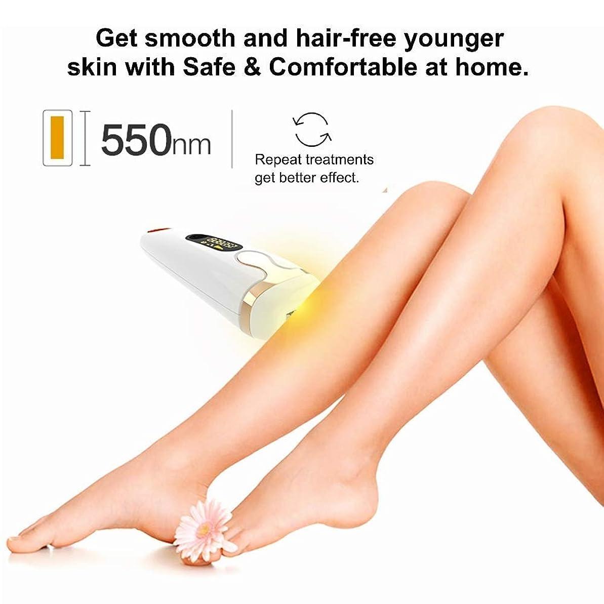 リアル販売員意味する女性用IPL脱毛装置システム、男性用、顔用永久脱毛機500,000回点滅痛みのない体
