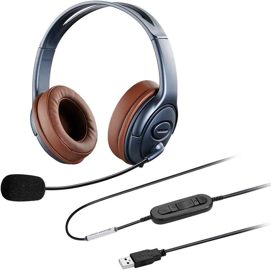 Super sale Oppetec Over Ear Laptop Headset USB Dual Reservation with Noise