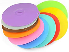 Pycong. Silicone Reusable Oil-absorbing Closure Bowl Lids for Bowls, Jars and Cups. Kitchen Accessories Made of Food Grade...