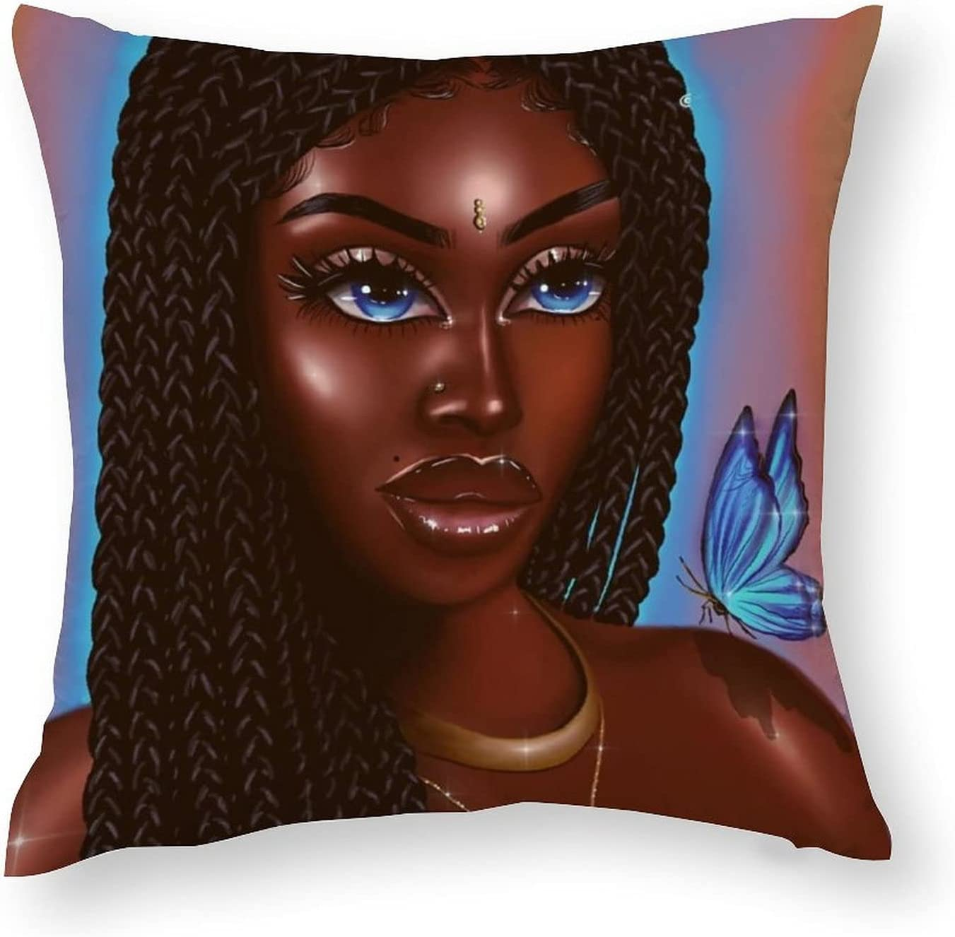 NiYoung Pillowcase Cheap mail order sales Cover 18 X Inch Women shopping A - Africna American