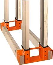 SnugNiture Firewood Log Storage Rack Bracket Kit with Screws, Fireplace Wood Storage Holder. Powder Coated Heavy Duty Stee...
