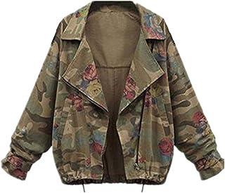 4e300438d8ae Tayaho Chaquetas Mujer Jacket Mangas Largas de Murciélago Outwear Suelto  Universidad Abrigos Deportivo Guays Chaquetas Camuflaje