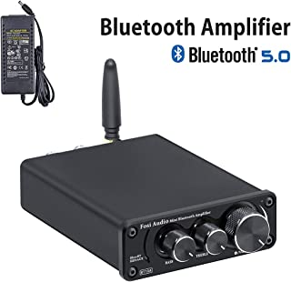 [2020 Upgraded] Bluetooth 5.0 Stereo Audio Amplifier Receiver 2 Channel Class D Mini..