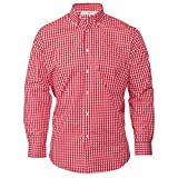 Chef Works Men's Gingham Dress Shirt, Red & White Check, XXX-Large