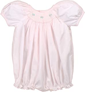 Baby Girls' Hand-Embroidered Smocked Bubble