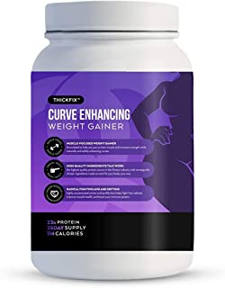 Gluteboost - ThickFix Curve Enhancing Weight Gainer Shake - Grass-Fed Whey Protein Powder with Amino Acids - Increase Curv...