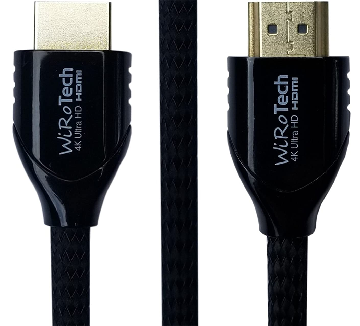 Black HDMI Cable 3ft - HDMI (4K, 60Hz, HDR) Ready - Braided Cable - High Speed 18Gbps - Gold Plated Connectors - Ethernet, Audio Return - Video 2160p