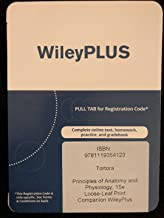 WileyPlus companion Registration card for Principles of Anatomy and Physiology, 15e