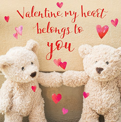Cute Teddy 3D Holographic Valentine's Day Card Square Greeting Cards