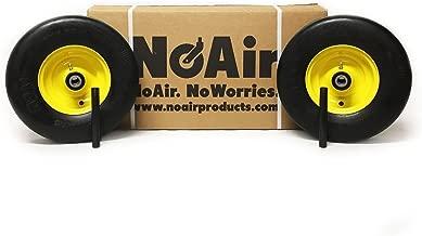 NoAir (2) John Deere Flat Free Wheel Assemblies 13x5.00-6 Yellow Replaces TCA13769