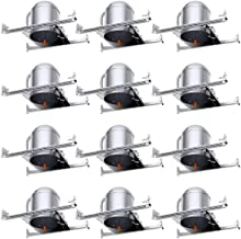 Sunco Lighting 12 Pack 6 Inch New Construction LED Can Air Tight IC Housing, Recessed Lights, LED Downlight, for Retrofit Kit, Electrician Prefered - UL Listed and Title 24 Certified (TP24)