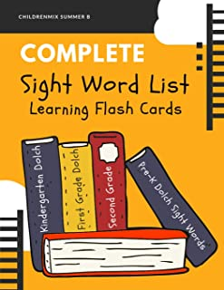 Complete Sight Word List Learning Flash Cards: This high frequency words package includes complete Dolch word lists (220  service words + 95 nouns) ... First Grade, Second Grade and Third Grade.
