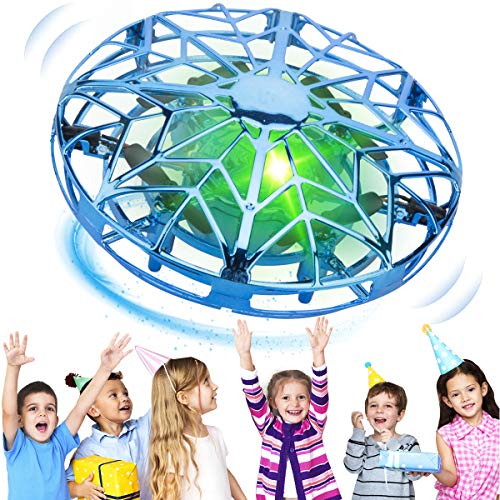 KToyoung Hand Operated Drones for Kids Adults,Hands Free Mini Drone Small Flying Ball Toy UFO Drone,Indoor Outdoor Motion Sensor Helicopter Ball Toys for Kids 6 7 8 9 10 and Up Years Boys and Girls