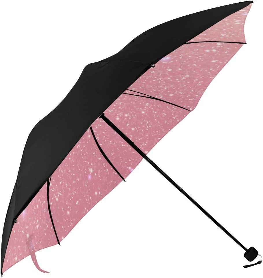 Parasol Max 67% OFF Umbrella Columbus Mall For Kids Pink Undersi Rose Sequins Glitter Gold