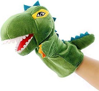 دمية يد على شكل ديناصور مارينيت جلوف دمى مسرحية دمى قطيفة قصص دمية للتحدث مساعدة تعليمية لطيفة للأطفال (اللون: 2) ديتازي