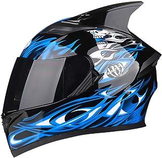 AIS R1-607 フルフェイスヘルメット バイクヘルメット フルフェイス オートバイ ヘルメット 雲止めシールド スモークシールド 角付き 安全ヘルメット 通気 PSC規格品 (カラー1, XXXL)