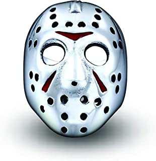 Men Ring Stainless Steel Biker Jason Hallows' Day Voorhees Hockey Halloween Mask Antique Male Cool Jewelry