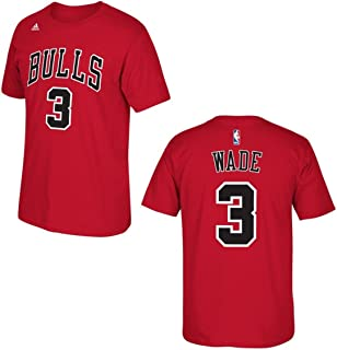 huge discount e40dd 98e48 adidas Dwyane Wade Chicago Bulls Red Jersey Name and Number T-Shirt 4X-Large