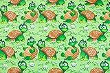 Stoffschreinerei Baumwollstoff (Verrückte Schildkröten)