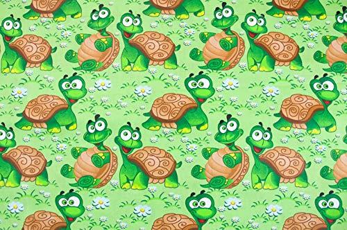Stoffschreinerei Baumwollstoff (Verrückte Schildkröten) Handmade nähen Meterware 100% Baumwolle (1m x 1.60m)