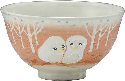 アイトー 飯碗 白ふくろう 小 京焼 清水焼 花月窯 飯碗 LHH573-02