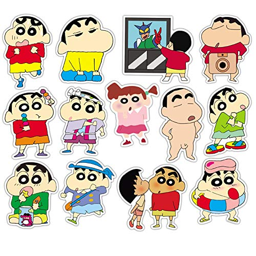 Crayon Shin-Chan Anime Personality Laptop Cartoon Cute Password Travel Luggage Sticker 50pcs