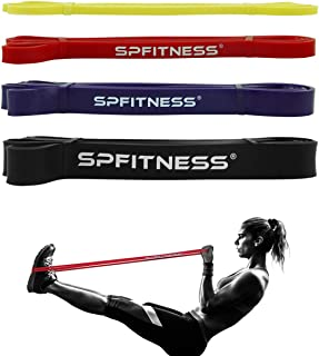 SPFITNESS Pull up Assist Band Exercise Resistance Bands or Body Stretching, Powerlifting, Resistance Training Set of 4