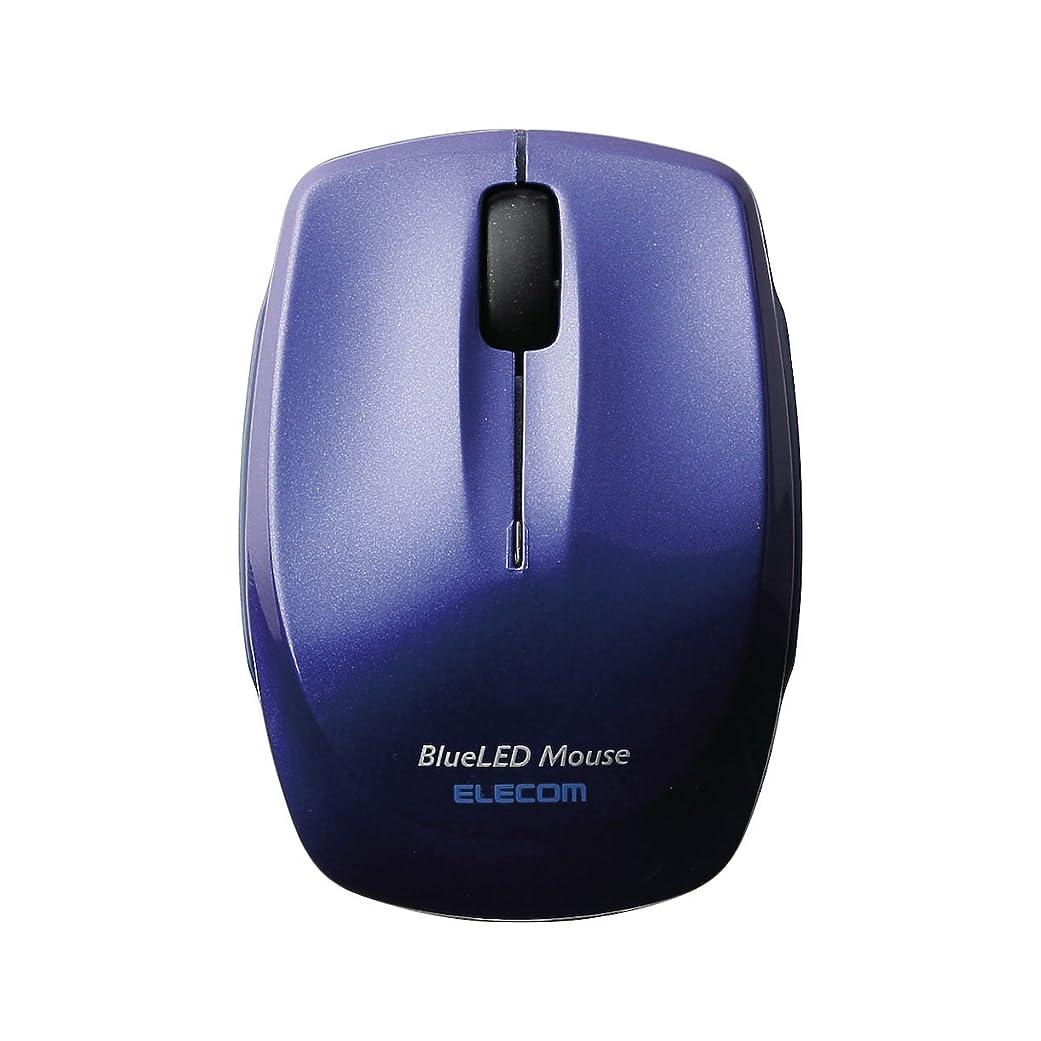 仲良し疫病浴室エレコム ワイヤレスマウス Bluetooth 静音 クリック音95%軽減 3ボタン コンパクト ブルー M-FBL3BBSBU