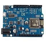 HALJIA ESP8266 ESP-12E WIFI - Placa de desarrollo inalámbrica Compatible con Arduino UNO IDE (compatible con WeMos D1)