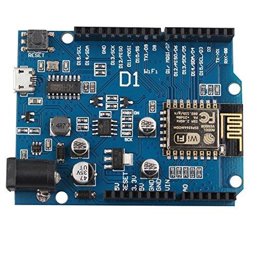 HALJIA esp8266 esp-12e WiFi Wireless Development Board für Arduino UNO IDE kompatibel Kompatibel mit wemos D1